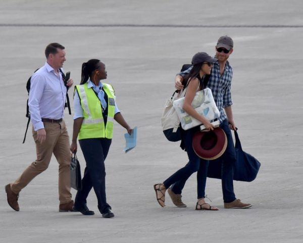 Prince Harry and girlfriend Meghan Markle arrive southern Africa for Birthday Safari - BellaNaija