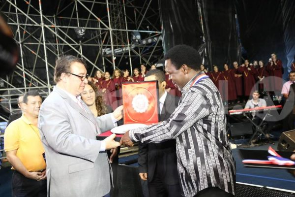 Paraguayan Government presents TB Joshua with Order of Merit - BellaNaija