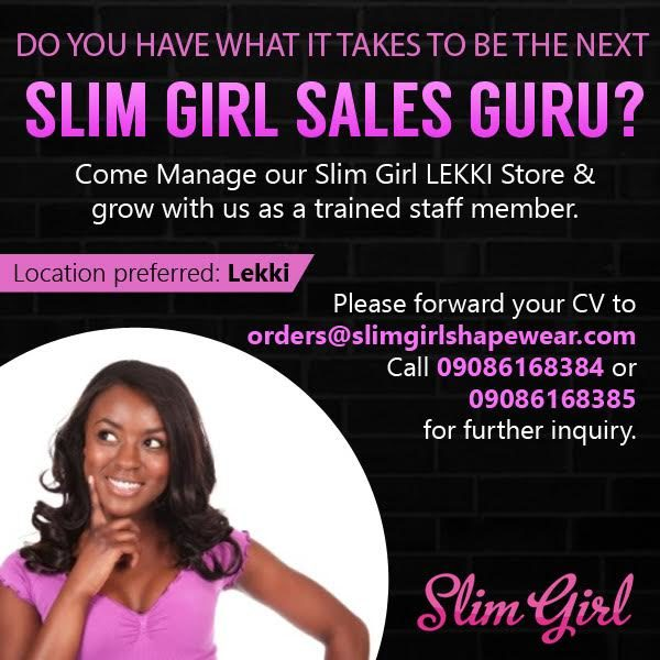 Slim Girl Sales Rep Vacancy