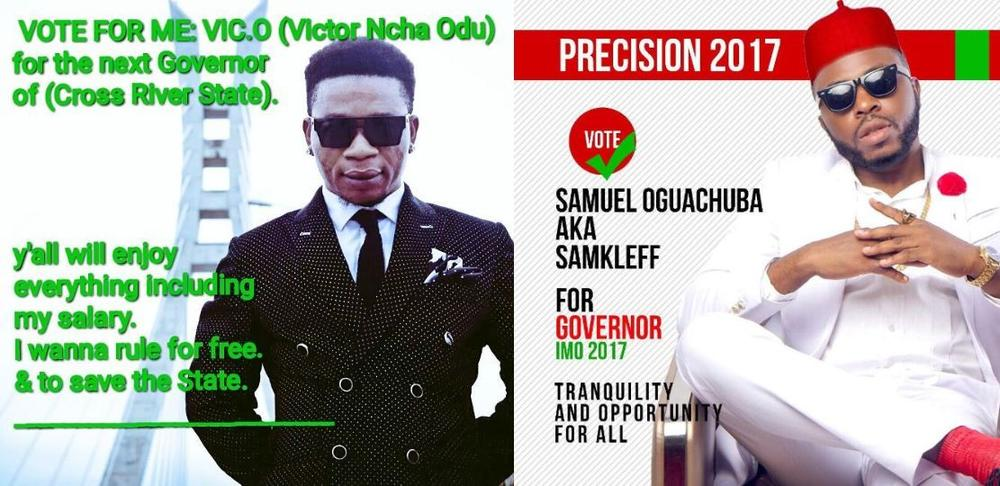Vic O & Samklef join list of Entertainers vying to be Governor - BellaNaija