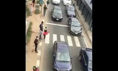 BellaNaija - Honk or Watch? These Guys stopped Traffic to Record their #WoChallenge