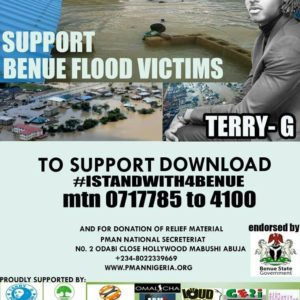 "BellaNaija - Terry G drops New Single ""I Stand with Benue"" in support of Flood Victims 