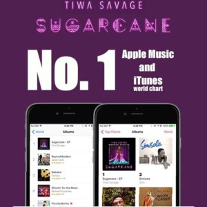 "BellaNaija - Tiwa Savage's New EP ""Sugarcane"" tops iTunes & Apple Music charts"
