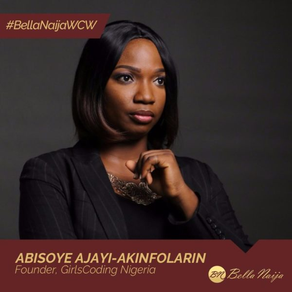 #BellaNaijaWCW Abisoye Ajayi-Akinfolarin is fighting Inequality & Poverty with GirlsCoding Nigeria