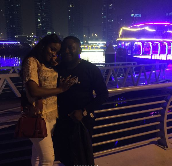 She said Yes ???!!! Comedian Ajebo proposes to Girlfriend on Boat Cruise in Dubai | WATCH - BellaNaija