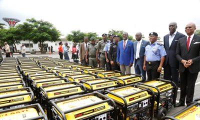 BellaNaija - Governor Ambode donates 120 5KVA Generators to Police in Lagos State