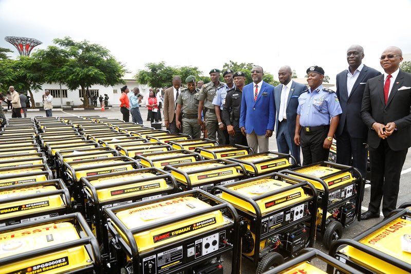 BellaNaija - Governor Ambode donates 120 5KVA Generators to Police in Lagos State