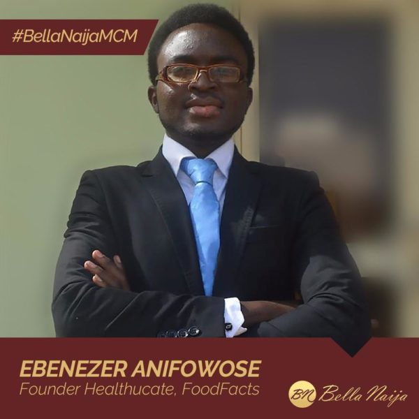 #BellaNaijaMCM Ebenezer Anifowose is using Healthucate & FoodFacts to Spread Relevant Health Information