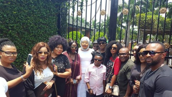 Rita Dominic, Ini Edo, Monalisa Chinda support Eucharia Anunobi at Son's Burial - BellaNaija