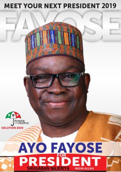 Fayose shares Presidential Campaign Poster - BellaNaija