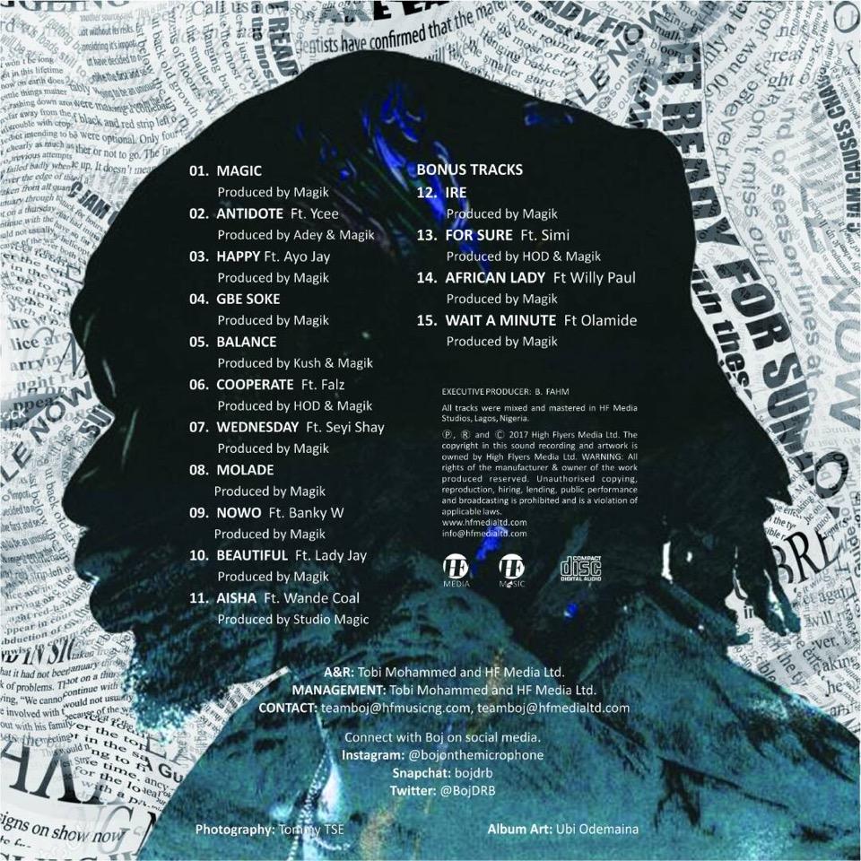 "BellaNaija - Banky W, Wande Coal, Falz... BOJ unveils Cover Art, Tracklist & Release Date for star-studded Album ""Magic"""
