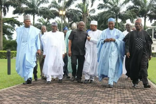 Northern Governors meet with Wike, Ikpeazu - BellaNaija