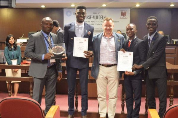 OAU Students Shine Bright At The International Negotiation Competition In New Delhi, India.