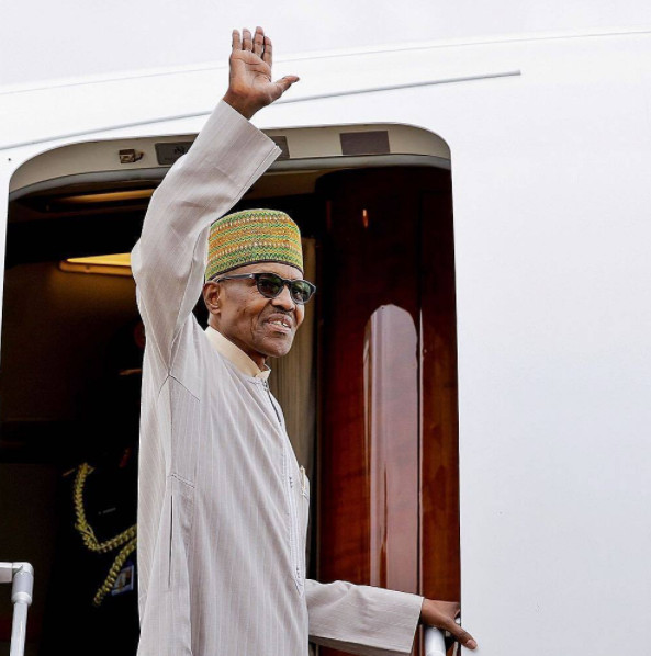 President Buhari in London, to return to Nigeria Monday - BellaNaija