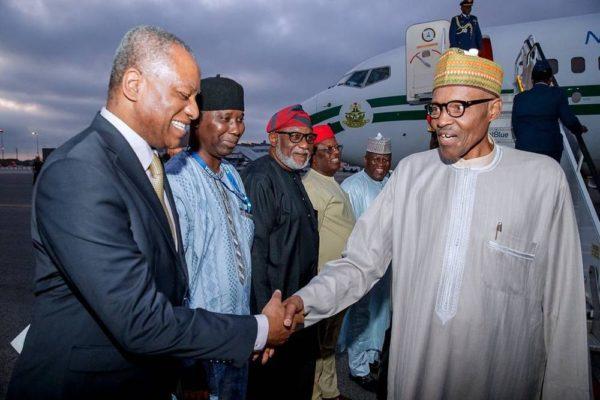 President Buhari arrives New York, to speak at UN General Assembly - BellaNaija