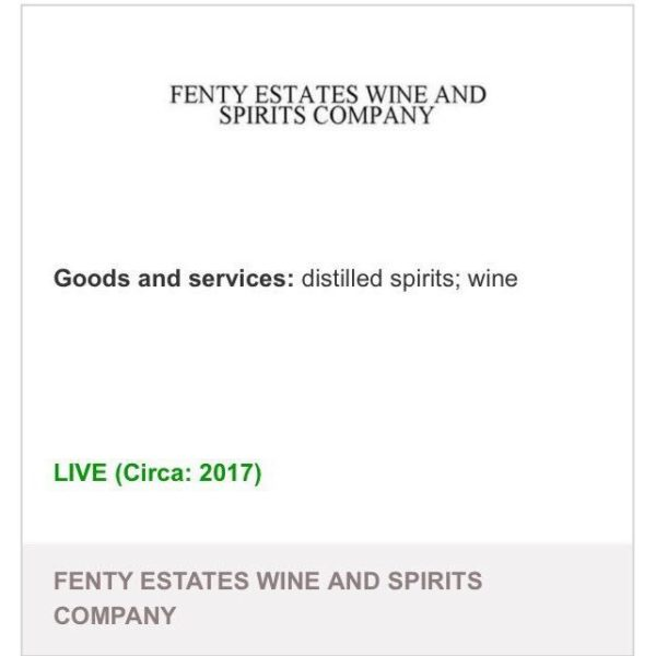 "Pour it Up! Rihanna reportedly files Trademark for ""Fenty Estates Wine and Spirits Company"" - BellaNaija"