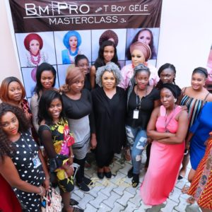 Beauty Lovers at The BMPRO Masterclass with T BOY Gele in Lekki