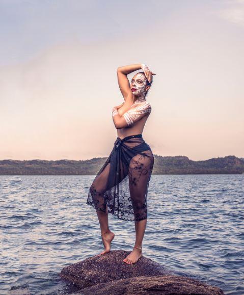 River Goddess! TBoss shares lovely Throwback Photoshoot - BellaNaija