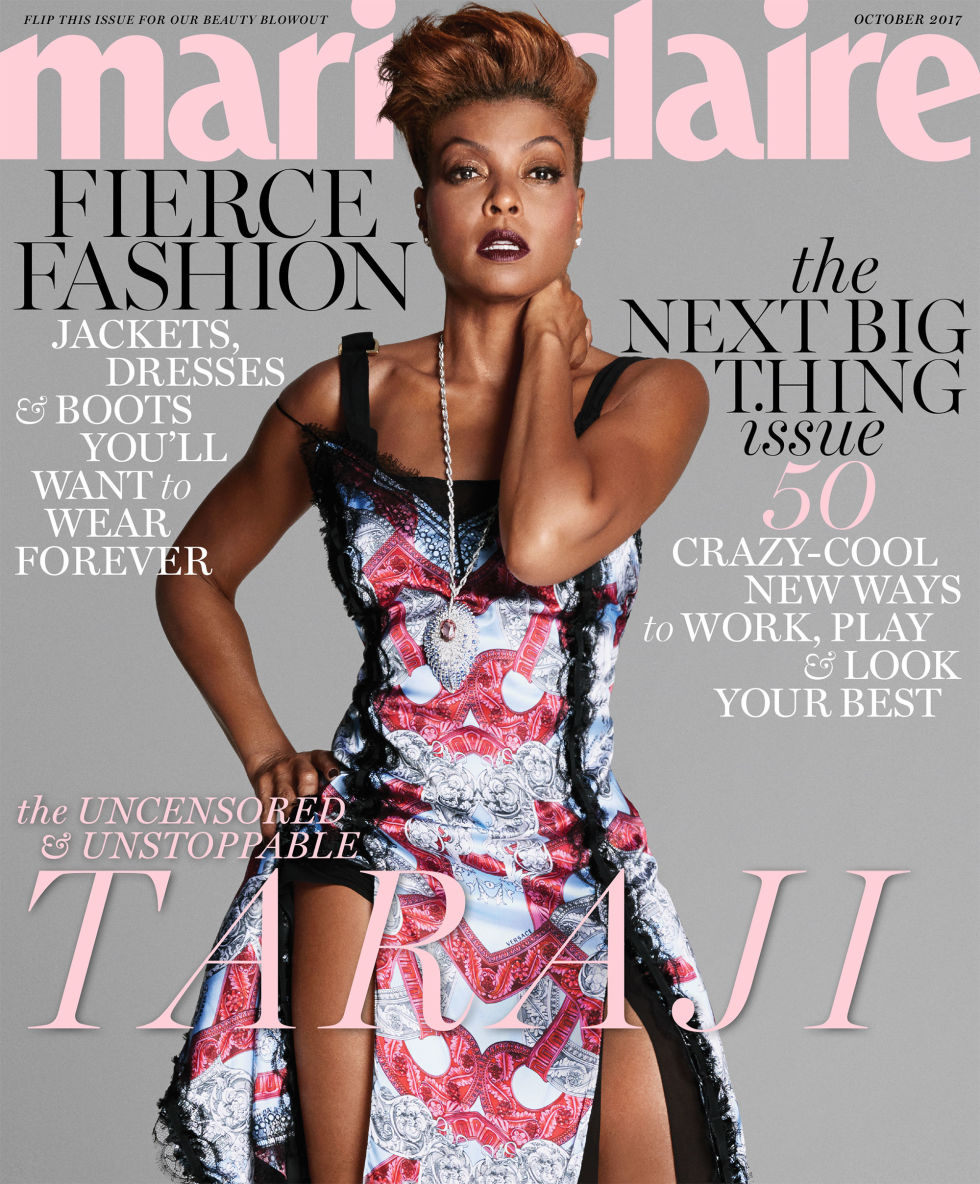 Fierce and Fabulous! Taraji P. Henson covers Marie Claire Magazine October Issue