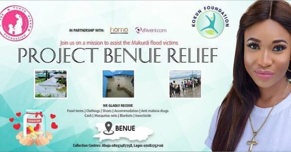 Actress Tonto Dikeh Calls On Fans To Help Donate For Benue Flood Relief.