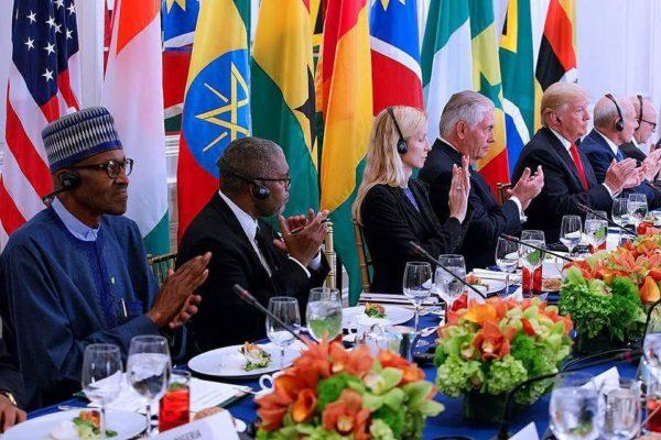 Trump meets with Buhari, other African Leaders - BellaNaija