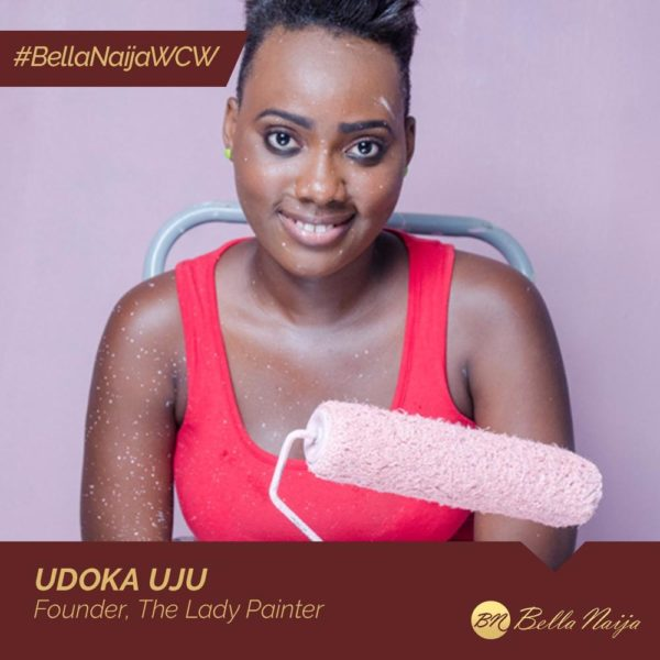 #BellaNaijaWCW: Udoka Uju - The Lady Painter - is on a Public School Beautification Exercise across Nigeria
