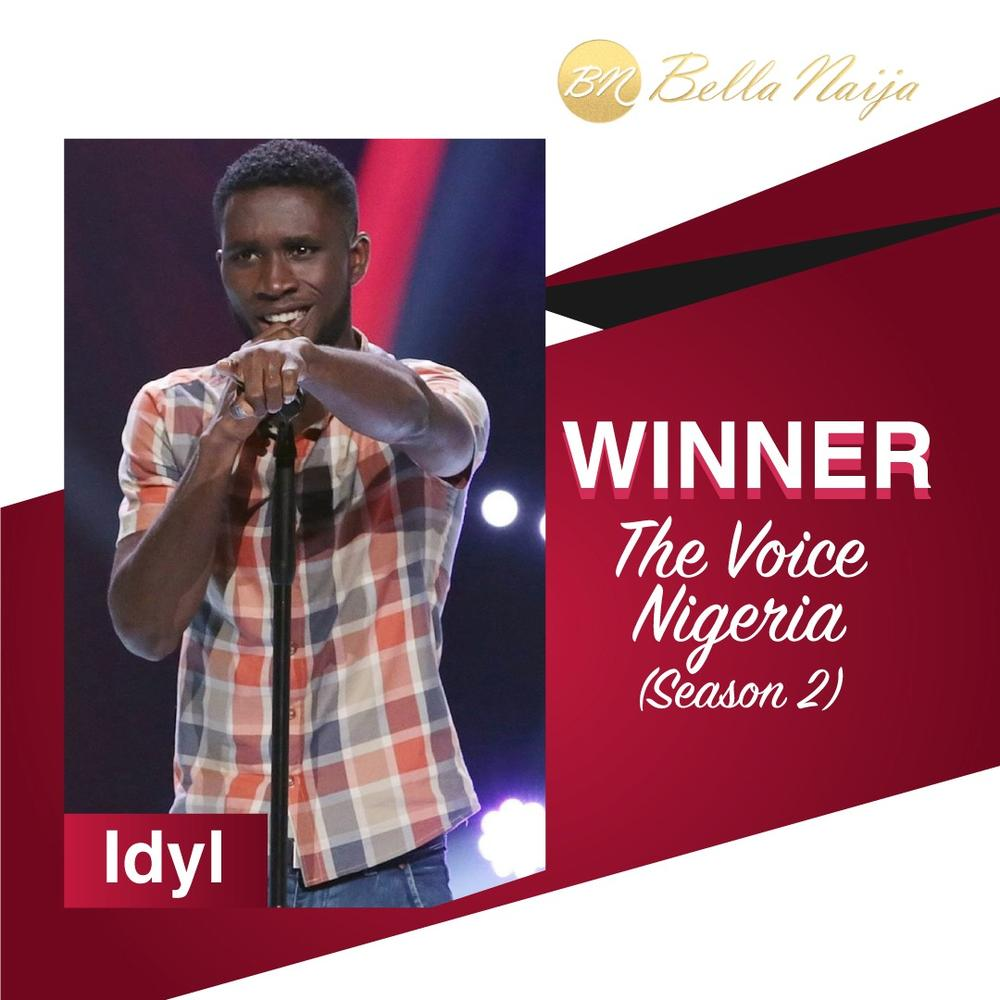 BellaNaija - #TVNFinale: And the winner is... Idyl wins #TheVoiceNigeria Season 2!!! ???