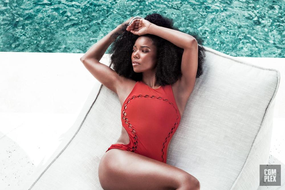 gabrielle union shares hot photos with complex magazine. Black Bedroom Furniture Sets. Home Design Ideas