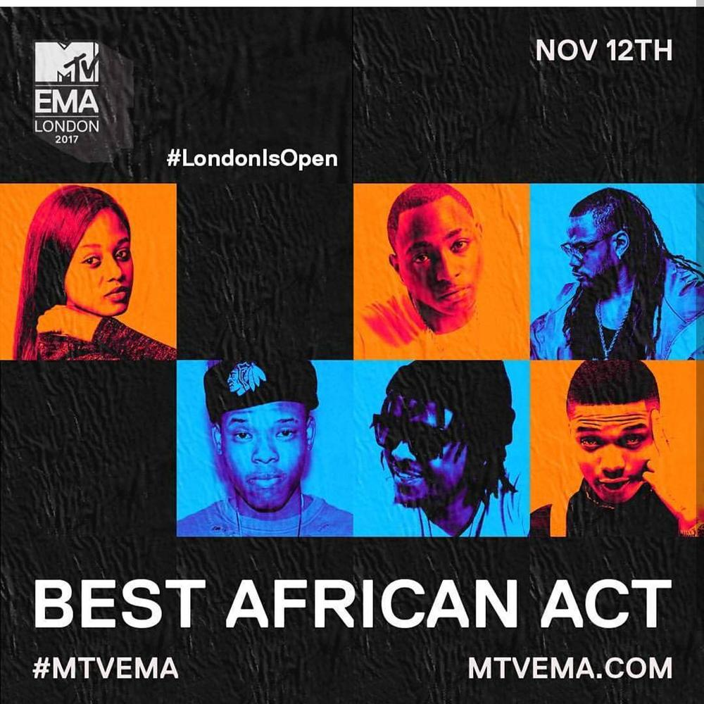 MTV EMA 2017 Nominations are here! | Davido & Wizkid in for Best African Act