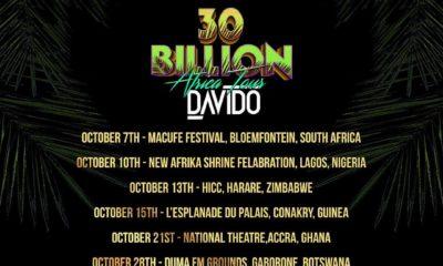 Lagos, Bloemfontein, Accra, Harare... Davido unveils Dates & Cities for 30 Billion Africa Tour