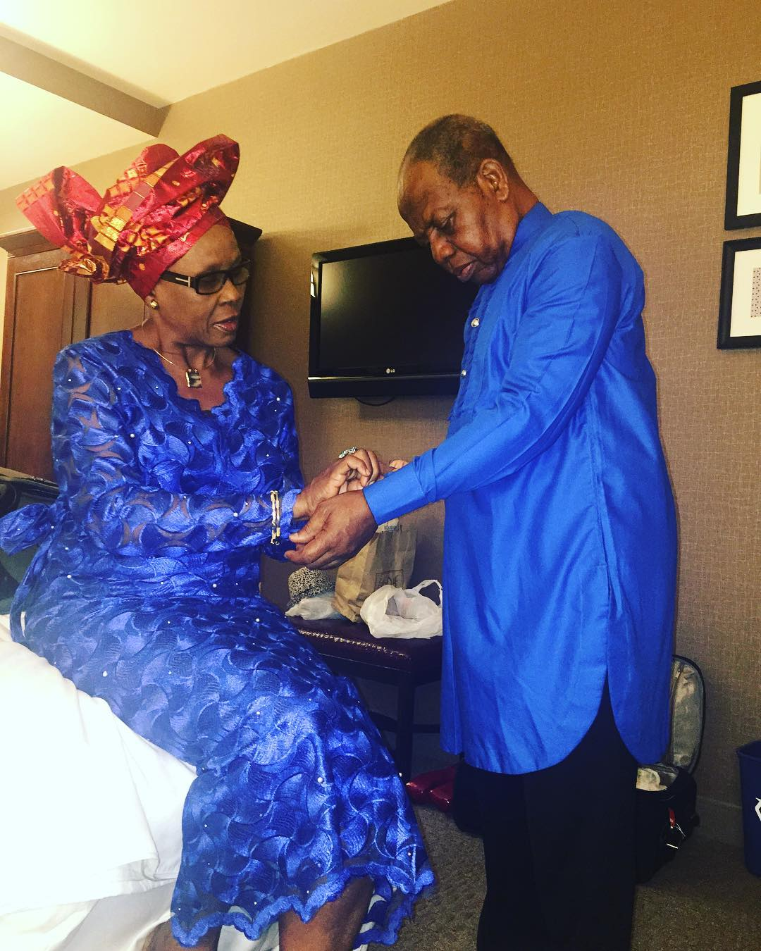 "Nigerian Comedian Foxy P's parents are real ""Relationship Goals"" ?"