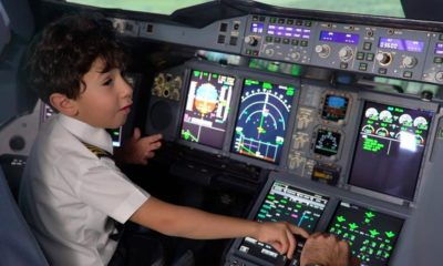 6-Year-Old Genius becomes Etihad's Pilot for a Day - BellaNaija
