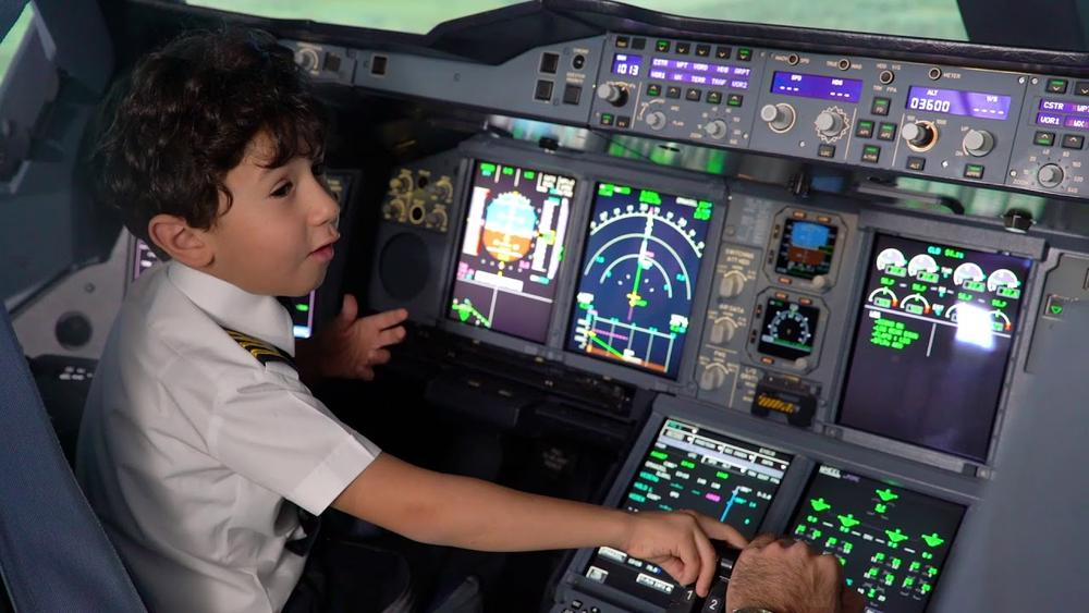 6-Year-Old Genius becomes Etihad's Pilot for a Day - BellaNaija