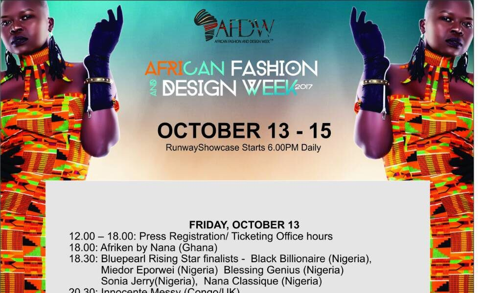 African Fashion And Design Week 2017 To Showcase 30 Designers