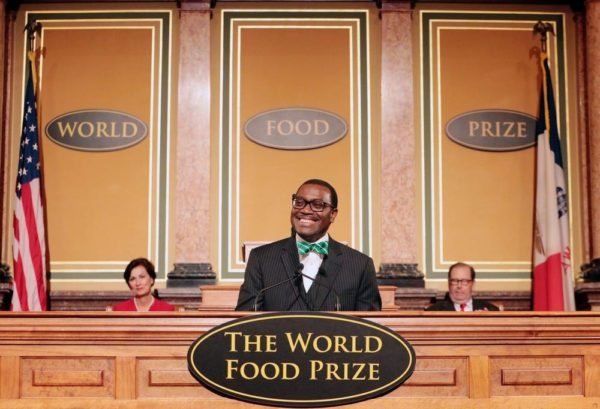 Akinwumi Adesina pledges $250,000 World Food Prize Money to set up Fund for Young Farmers & Agripreneurs - BellaNaija
