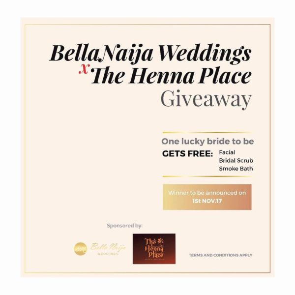BN Weddings x The Henna Place GIVEAWAY! 1 Bride to Win a Luxury Spa Experience + More