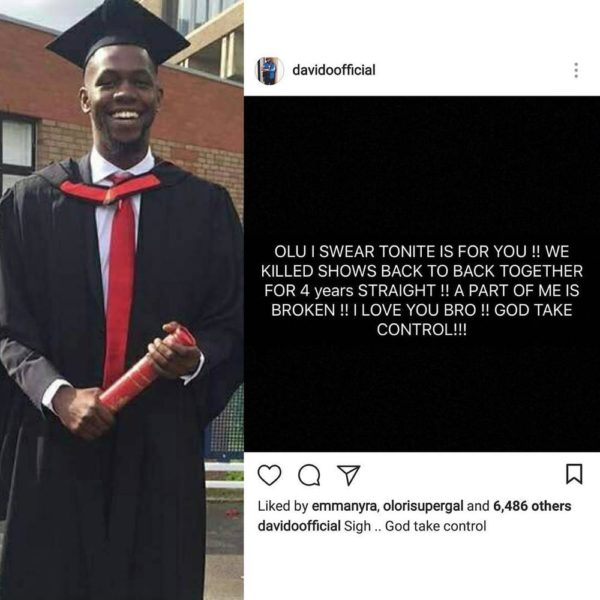 DJ Olu, son of Dapo Abiodun & one of Davido's Disc Jockeys is Dead - BellaNaija