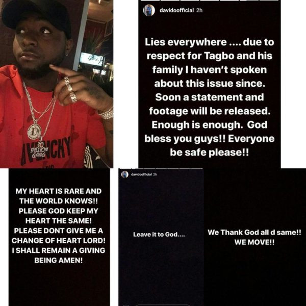 """Tagbo's Death: """"Soon a statement and footage will be released"""" – Davido"""