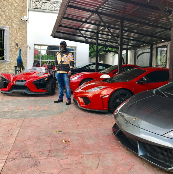 """Talk oya talk,"" says Dino Melaye as he shows off his ""Toys"""