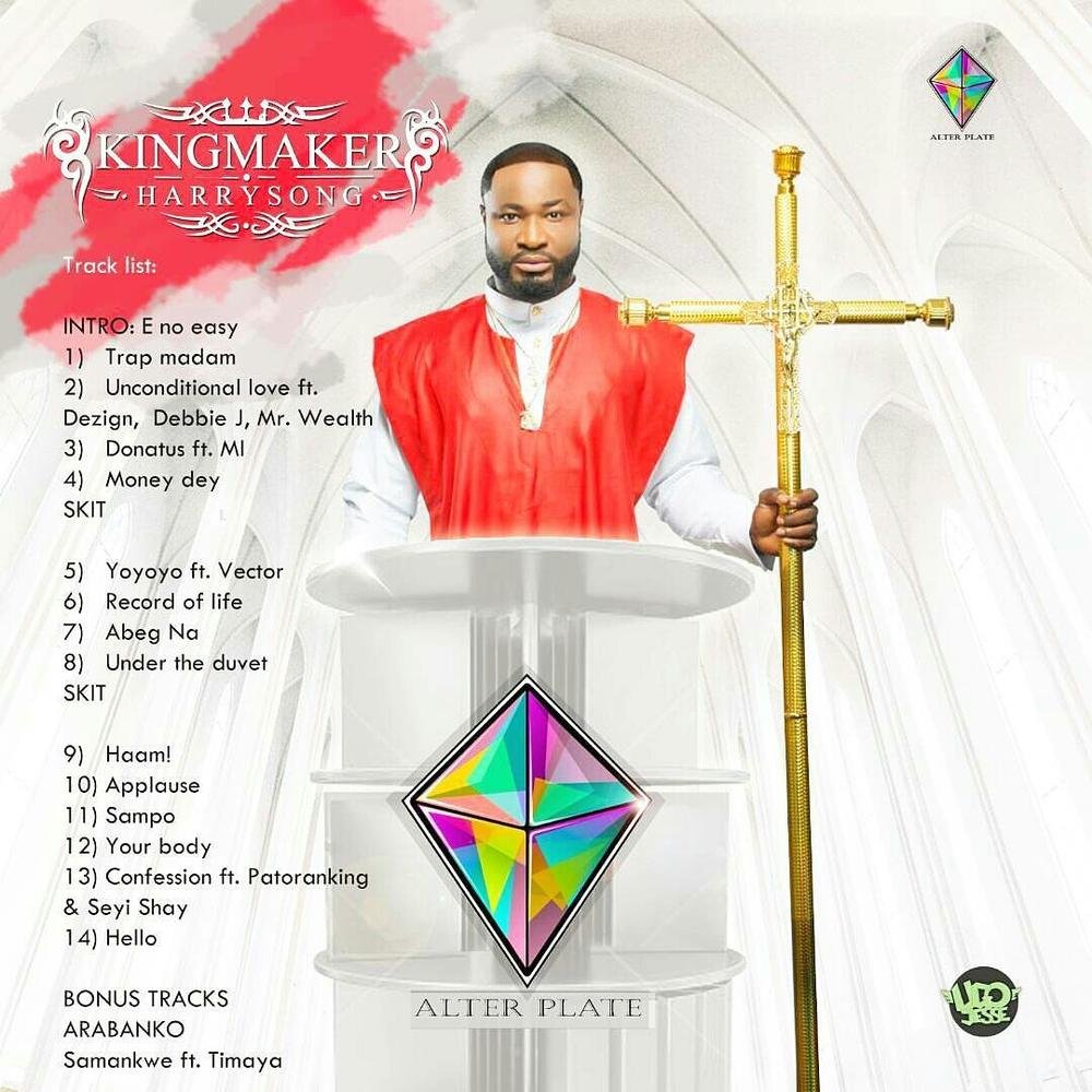 Harrysong unveils Tracklist for new Album Kingmaker