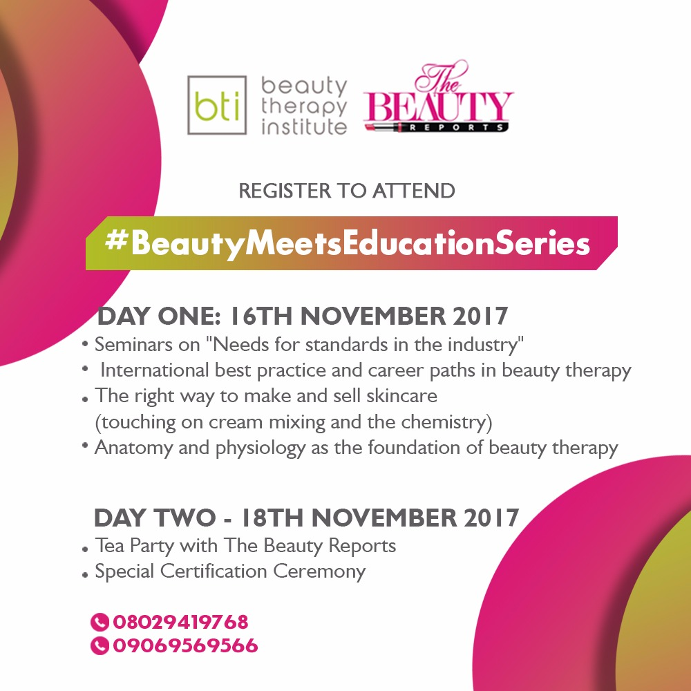 The Beauty Reports & Beauty Therapy Institute presents ...