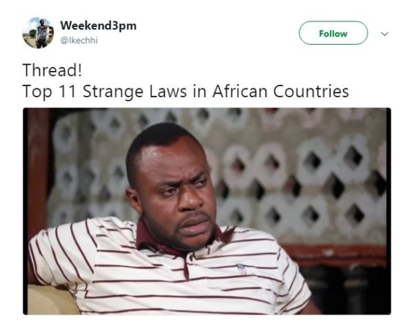 Check out these Very Odd Laws African Countries Have - BellaNaija