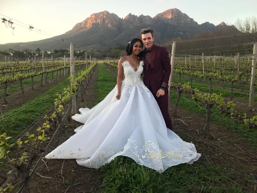 Becomingmrsjones First Look At Minnie Dlamini Amp Quinton Jones Fairytale Wedding Bellanaija