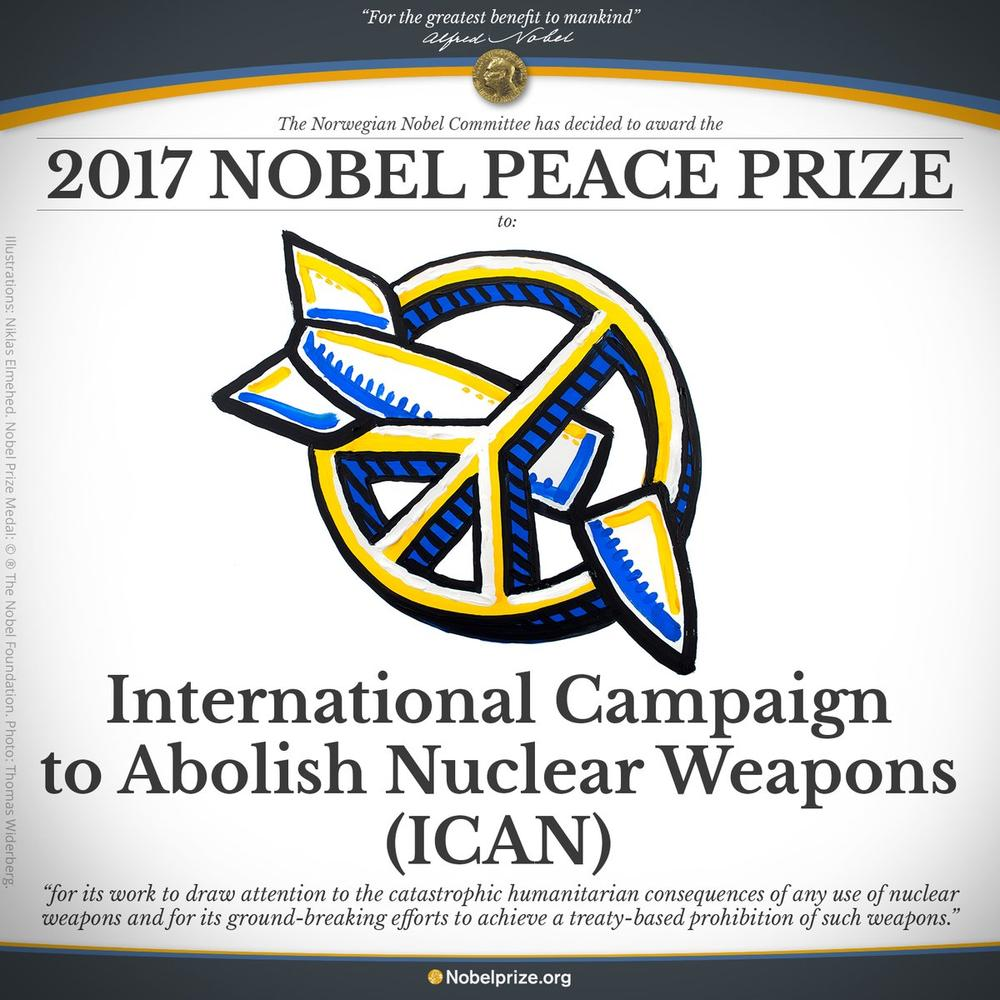 Anti-Nuclear Weapons group ICAN wins 2017 Nobel Peace Prize - BellaNaija