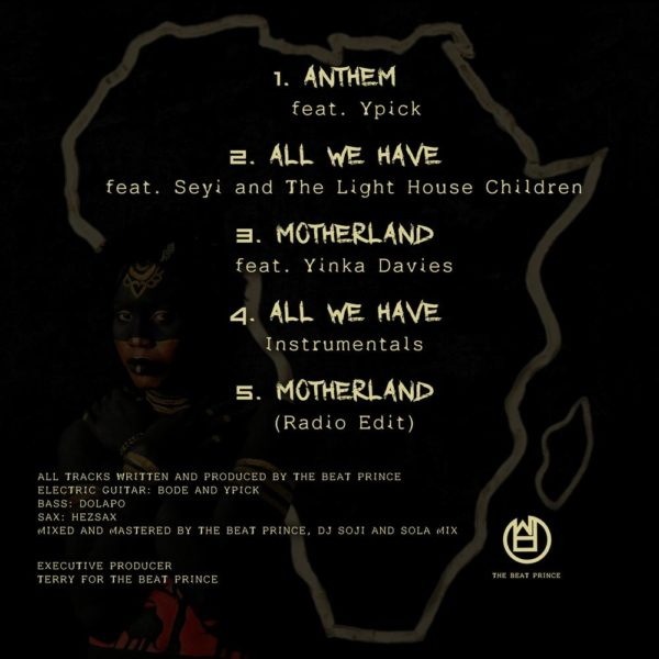 """The Beat Prince teams up with Yinka Davies for EP """"Mother Land"""" 