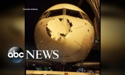 What did NBA team Oklahoma City Thunder's Airplane hit? | WATCH
