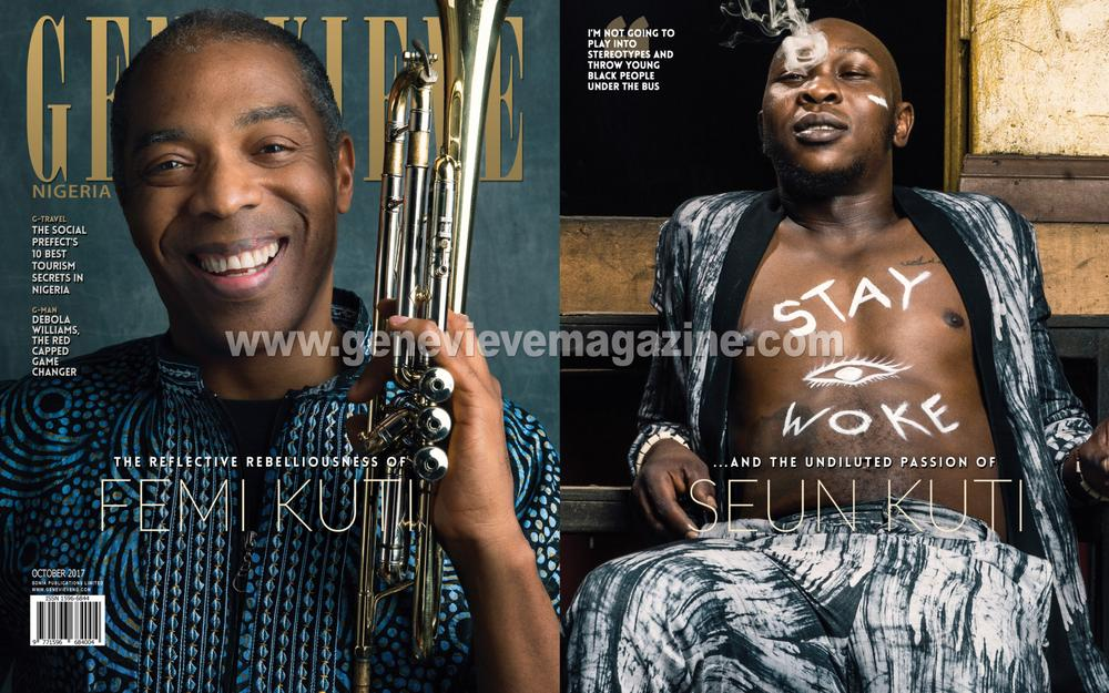 It's a Twin Cover for Genevieve Magazine with Femi & Seun Kuti!