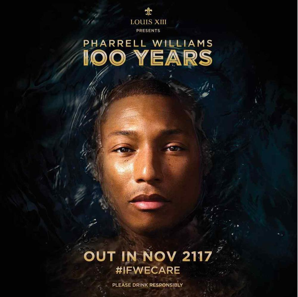 """The song we'll only hear if we care"" - Pharrell Williams New Single ""100 Years"" will not be released until 2117"
