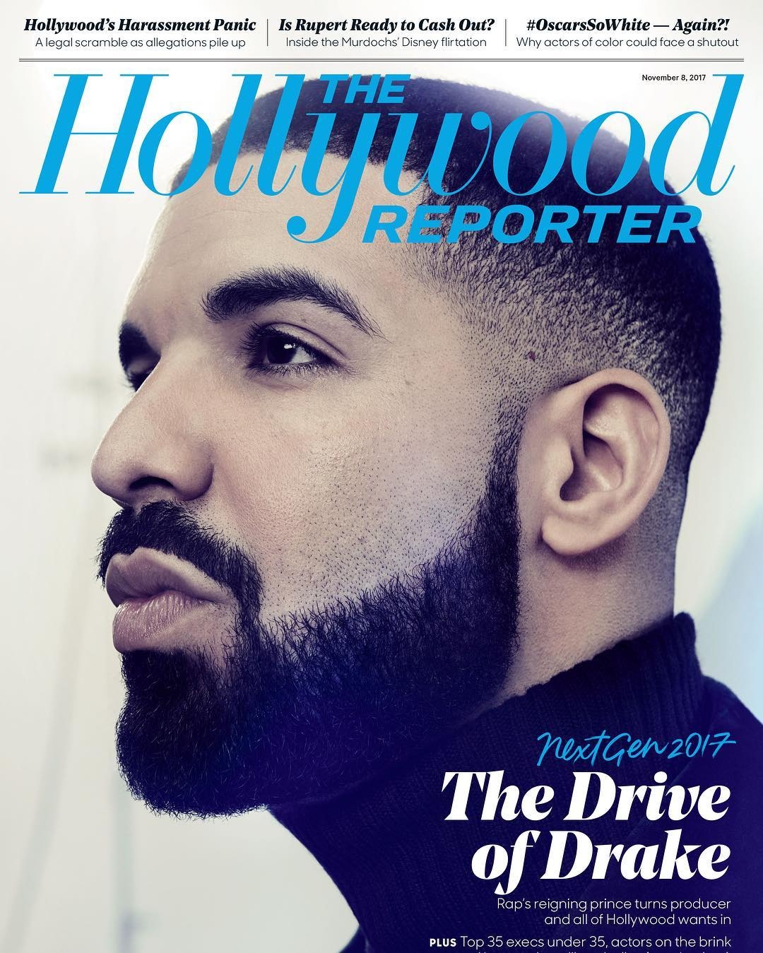 From Music to Hollywood! Drake covers The Hollywood Reporter #THRNextGen Issue 2017
