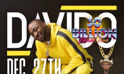 Davido to round up 30 Billion Tour with First Headline Concert in Nigeria in 5 Years
